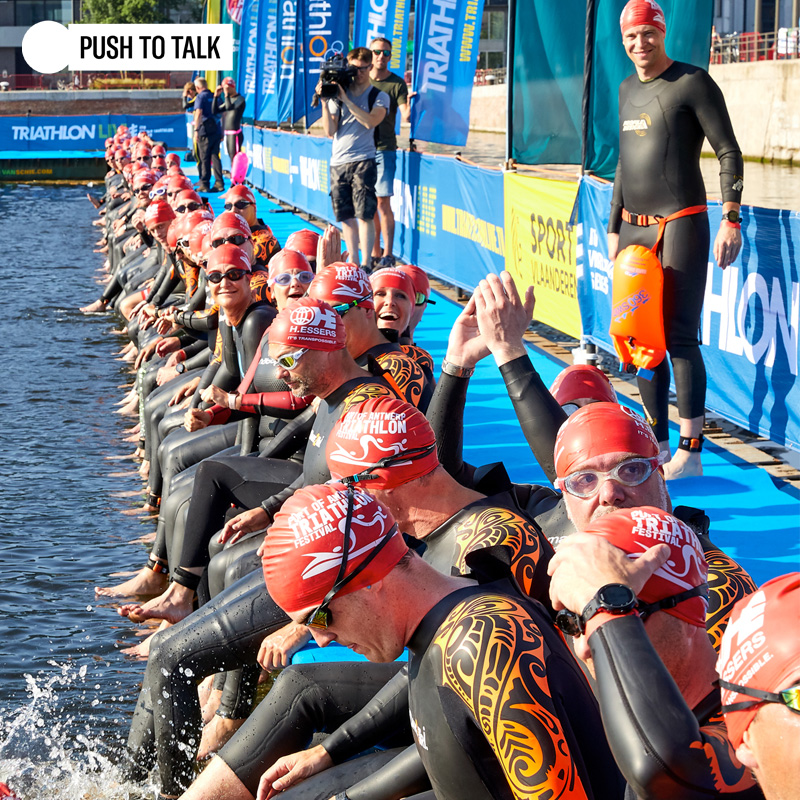 Push To Talk organiseert Port of Antwerp Triathlon Festival